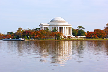 Thomas Jefferson Memorial in autumn, Washington DC