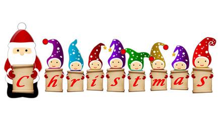 santa clause and gnomes christmas