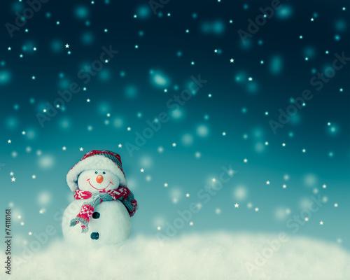 canvas print picture snowman