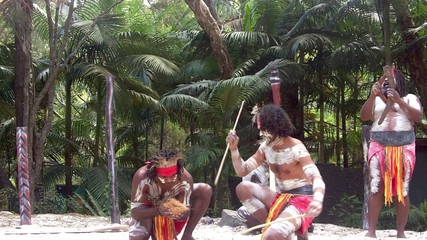 Aboriginal culture show in Queensland, Australia