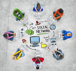 Social Network Media People Technology Computer Concept
