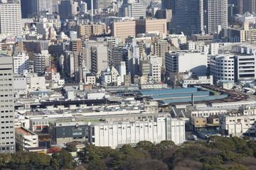 築地市場と隅田川
