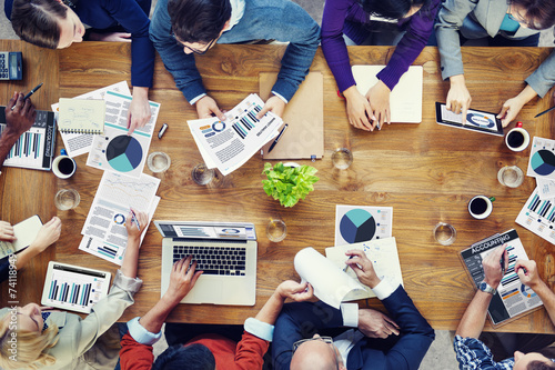 canvas print picture Marketing Analysis with Business Meeting Concept