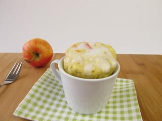 Apfel Mug Cake aus der Mikrowelle