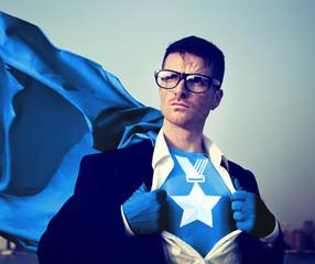 Medal Strong Superhero Success Professional Empowerment Concept