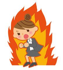 燃えるビジネスウーマン