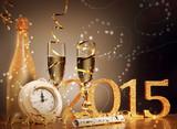 2015 New Years Eve celebration background