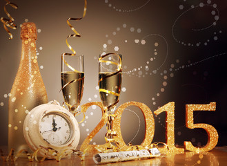 2015 New Years Eve celebration background
