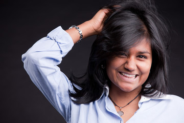 portrait of a nice indian girl smiling