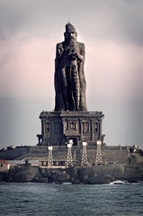 Statue of the poet Thiruvalluvar, Kanyakumari, India.