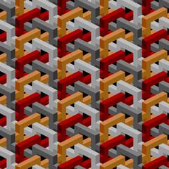 Isometric seamless background