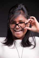 portrait of an indian girl's laughter