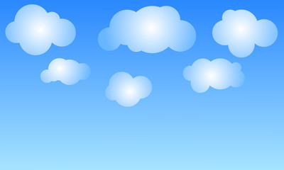 clouds in a blue sky. Sky background