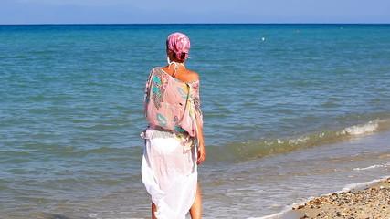 Enjoying the sun and the sea