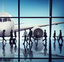 Airplane Aircraft Airport Business Travel Flight Transport Conce