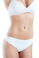 Slim female abdomen