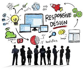 Responsive Design Internet Web Online Business Communication Con