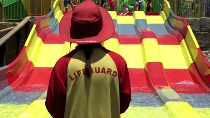 Australian Lifeguard in Wet N Wild Gold Coast Australia