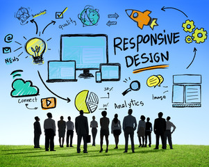Responsive Design Internet Web Online Business Aspiration Concep