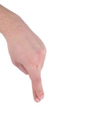 Man's fingers