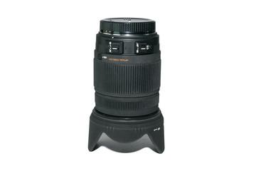 Camera photo lens isolate on white