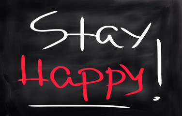 Stay Happy Concept