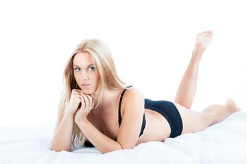Natural beauty woman in underwear