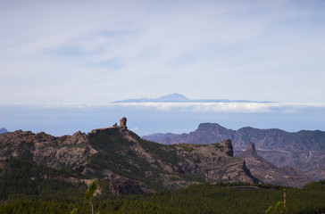 View from Gran Canaria mountain