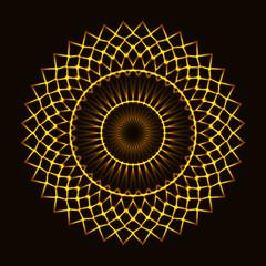 Abstract cosmic circle