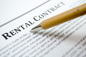 Filling a rental contract