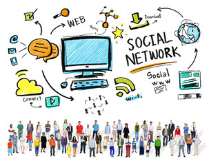 Social Media Diversity People Community Concept