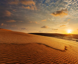 Fotoroleta White sand dunes on sunrise, Mui Ne, Vietnam