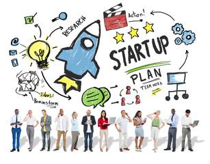 Start Up Business Launch Success Business Technology Concept