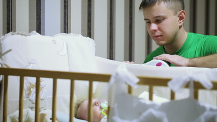 Pope cradles baby