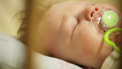 Cradles baby