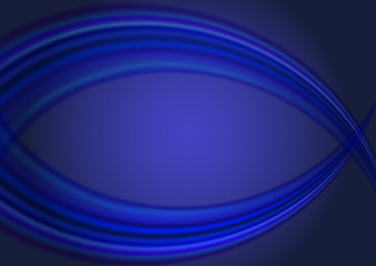 abstract dark blue background with wave