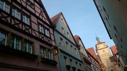 Historische Gebäude Altstadt rothenburg