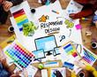 Responsive Design Internet Web Graphic Design Team Concept