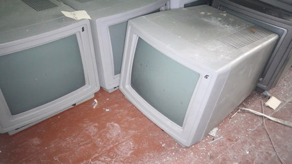 old vintage computer monitor largely