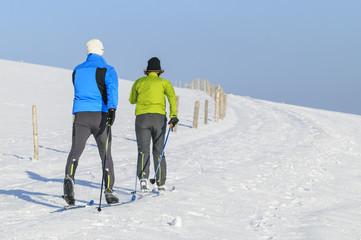 Skiwandern zu zweit