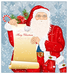 Santa Claus with Santa's list