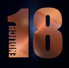 Endlich 18 - Kupfer - Emblem