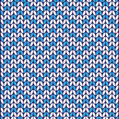 vector blue and white wool texture with ornaments