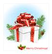 Chrristmas present gift box.