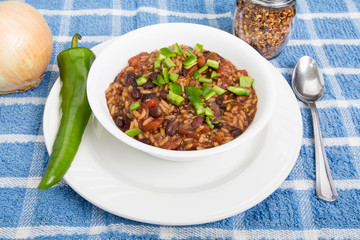 Red Beans and Rice with Poblano Pepper