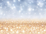 sparkling backdrop - gold and silver for christmas and new year poster