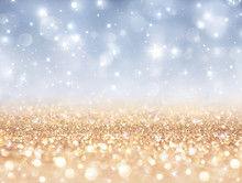 sparkling backdrop - gold and silver for christmas and new year