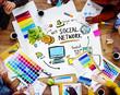 Social Network Social Media Designer Office Working Concept
