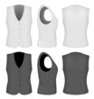 Ladies white and black waistcoats.
