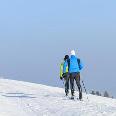 querfeldein auf Langlauf-Skiern